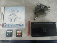 Nintendo DS Lite Black Bundle with Games, Charger and Case