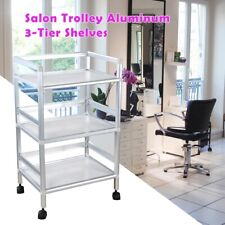 Rolling Trolley Cart 3 Shelves Hair Beauty Salon Spa Storage Barber Equipment