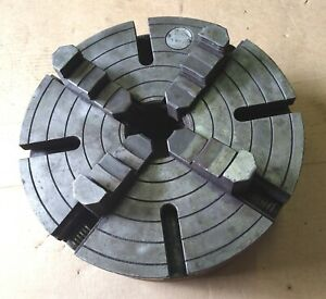 """15 Inch Diameter USA 4 Jaw Lathe Chuck L-1 Spindle mount 3-1/4"""" Hole L1 Taper"""