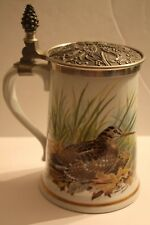 "Franklin Porcelain ""Woodcock Game Bird Stein"" Ltd. Ed. 1982 by Haviland Limogues"