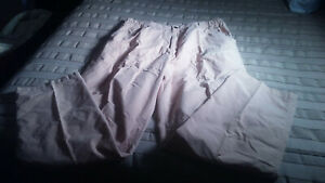 MEN'S White Sierra  Khaki Insect Repellent Cotton Nylon Cargo Pants L 36-41W EUC