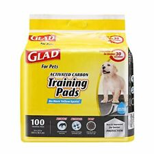 """Glad for Pets Regular-Size Activated Charcoal Puppy Training Pads - 23x23"""" 100CT"""