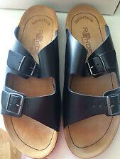 ROHDE Black Leather Adjustable Women's Sandals Super Comfortable EU 43/12 US-NIB
