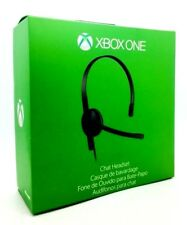 Genuine Microsoft Xbox One Chat Stereo Gaming Headset With Adapter Black