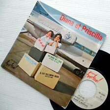 DIANA et PRISCILLA 60's Teen Bopper Girl Group FRENCH picture sleeve 45 ep e5558