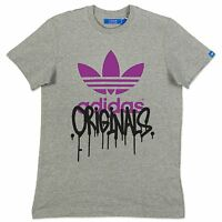 ADIDAS ORIGINALS GRAPHIC TREFOIL CITY TEE HERREN FREIZEIT T-SHIRT X34454 GRAU S