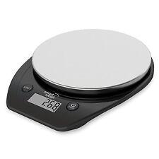 Bilancia per Cucina con Display Facile LCD Piattaforma in Acciaio pesa 1g a 5Kg