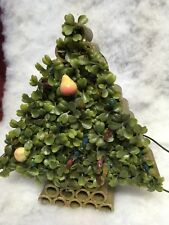 Oaak Vintage Christmas Tree Shrub Lights Vintage Fruit Ornaments
