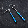 1 Pair Woman Fashion 925 Silver Jewelry Blue Fire Opal Charm Earring Pendant HOT