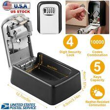 Wall Mount Key Lock Box 4 Digit Combination Safe Security Storage Case Organizer