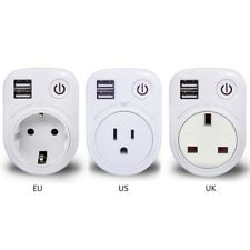 Rotatable Dual USB Wall Charger Power Adapter AC Outlet Mini Socket
