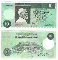 UNC LIBYA Rare 10 Dinars Series 4 White Border (1989) P-56