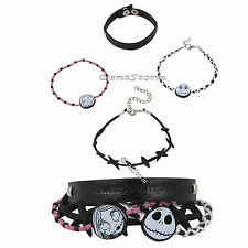 NEW Disney The Nightmare Before Christmas4 Jack Sally Stitches 4 PK Bracelet Set