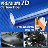"""*60""""x60"""" 7D High Gloss Blue Carbon Fiber Vinyl Wrap Bubble Free Air Release 6D"""