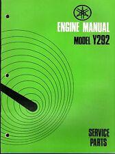 1972 YAMAHA ENGINES SNO JET MODELS Y292 SERVICE PARTS MANUAL  (327)