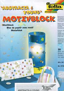 Motivkartonblock, Motivblock folia® 24x34cm, 30 Blatt, Abstracta young
