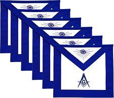 MASONIC MASTER MASON APRONS BLUE LODGE HAND EMBROIDERED - PACK OF 6 MA-099 x 6