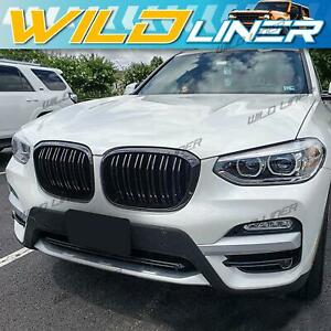 Gloss Black X3M X4M Style Front Kidney Grille Grill for BMW X3 G01 X4 G02 2018+