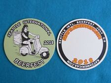 Beer Collectible Coaster ~ 2018 Seattle Beer Week ~ Big Lebowski Image ~ Scooter