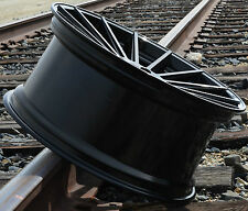 "22"" RF15 GLOSS BLACK WHEELS SET FOR MERCEDES S CLASS COUPE C216 C217 CL550 S550"