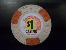 Jackpot Casino $1 Dollar Las Vegas Nv Poker Chip Obsolete