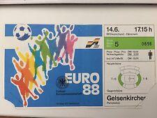 Original Ticket  EURO  EM 1988   DEUTSCHLAND - DÄNEMARK   TOP