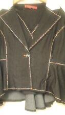 Devine Denim NY 3 Pièce Jupe Costume American Taille 26 W en couleur noire.