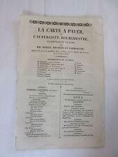 LA CARTE A PAYER ou L'AUBERGISTE BOURGMESTRE..MM.MERLE,BRAZIER ET CARMOUCHE..