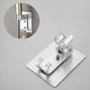 Universal Adjustable Shower Bracket Strong Adhesive Wall Mount Shower Holder