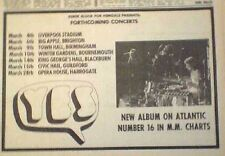 YES 1971 UK Tour dates  Press ADVERT 12x8 inches