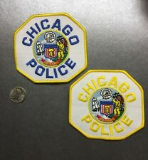 Lot Of Two 2 Chicago Illinois Police Department Patches Il