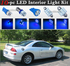 10-pc Blue LED Interior Light Bulbs Package Kit Fit 1998-2002 Mitsubishi Eclipse