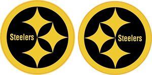 "Pittsburgh Steelers 4"" Side Gold Football Helmet Decals"