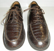 Ralph Lauren Alligator/Crocodile Embossed Leather Oxford Dress Shoes Mens 9.5 B