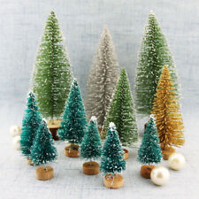 Tabletop Christmas Pine Tree gold silver green Mini snow Tree Small decorations