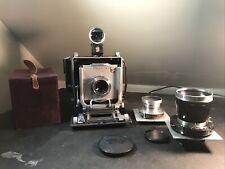 Linhof Technika III 4X5 Camera w/ 90mm+ 150mm+ 360mm Lens And Viewfinder