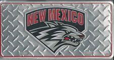 New Mexico Lobos Metal Car Tag Automobile Diamond License Plate New