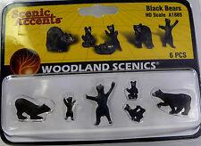 HO Scale Model Railroad Trains Woodland Scenics Black Bear Animal Figures 1885