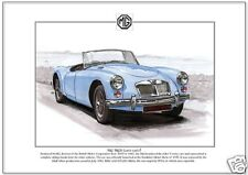 MG MGA (1955-62) - Fine Art Print A4 size - British Sports Car picture image BMC
