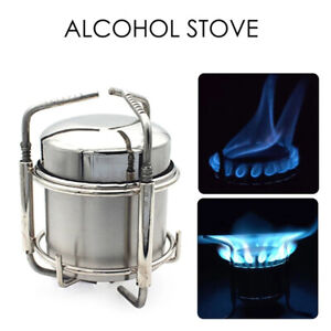 Outdoor Camping AlcoholStainless Steel Folding Utensil Stove Alcohol Pot Bowls