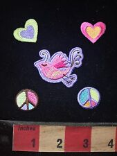 5 PEACE & LOVE Patch Girls Bling Decoration Collection! 76V4
