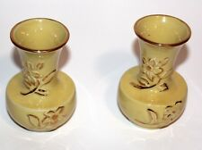 Lovely Vintage Art Deco Type Yellow Vases-Pair of Two