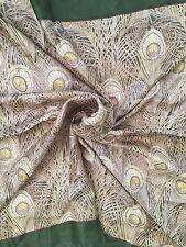 "LIBERTY of LONDON Made in ENGLAND HERA Peacock Print 100% Silk Scarf 34.5""x34.5"""
