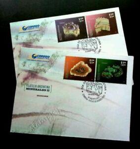 [SJ] Argentina Minerals 2012 Stone (FDC pair)