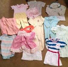 Vintage 80's baby girl clothes 14 pc total