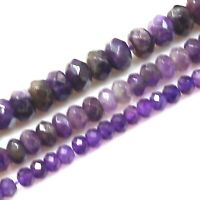 Purple Amethyst Candy Jade Faceted Rondelle Beads 3mm to 4mm