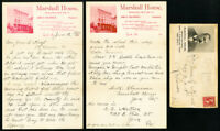 US Stamps 1900 Marshall House Cover with Insert