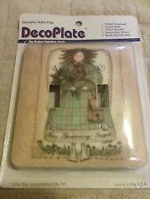 Vintage DecoPlate Decorative Double Switch Plate Gardening Angel 1996