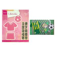 Soccer Metal Die Cut & Stamps Uniform Numbers Ball Marianne Cutting Dies Stamp