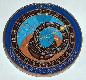 Geocaching Prague Astronomical Clock 2006 Geocoin active adoptable